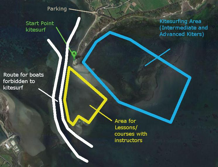 Punta Trettu Kite Zones