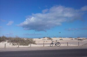 White Sand and Kitesurf in the North of Fuerteventura, Canary Islands